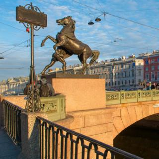 Аничков мост в Питере