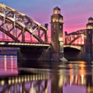 Большеохтинский мост через Неву - чудо Санкт-Петербурга