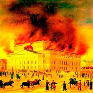 Подвиг кровельщика Василия Марина во время пожара Большого театра