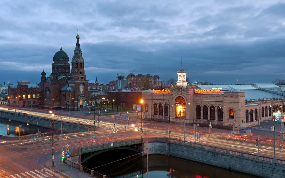Храм Воскресения Христова с Варшавским вокзалом