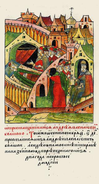 Летопись, сцена смерти князя Андрея Большого