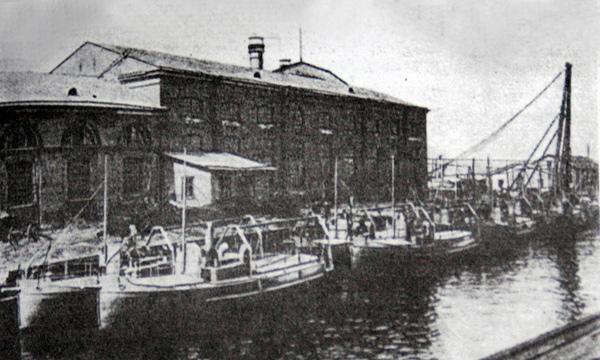 Устье реки Охта в начале XX  века