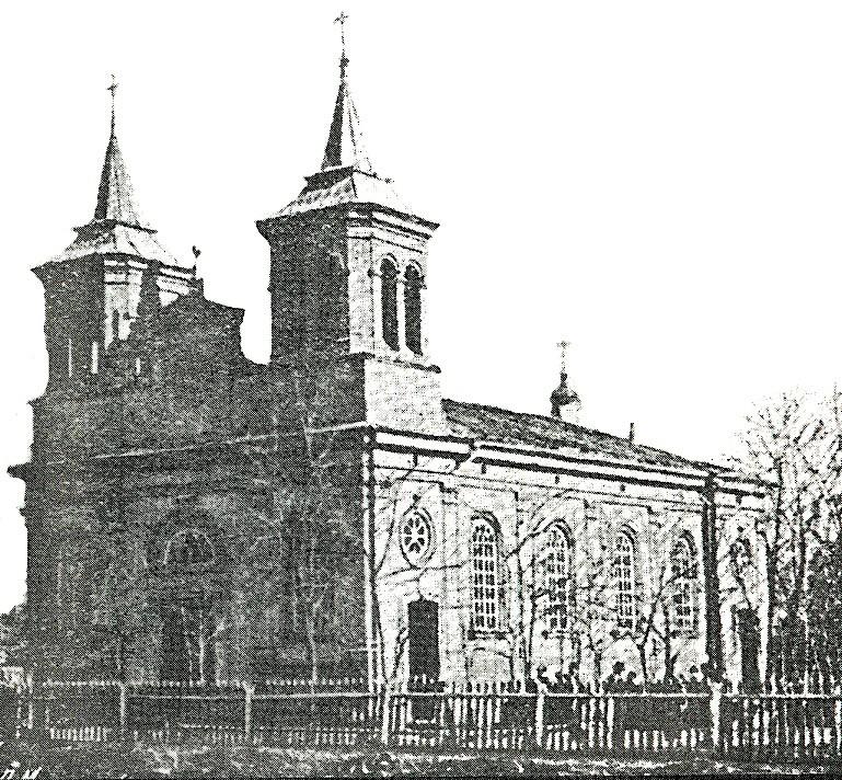 Место разрушенной католической церкви «Тайной вечери»