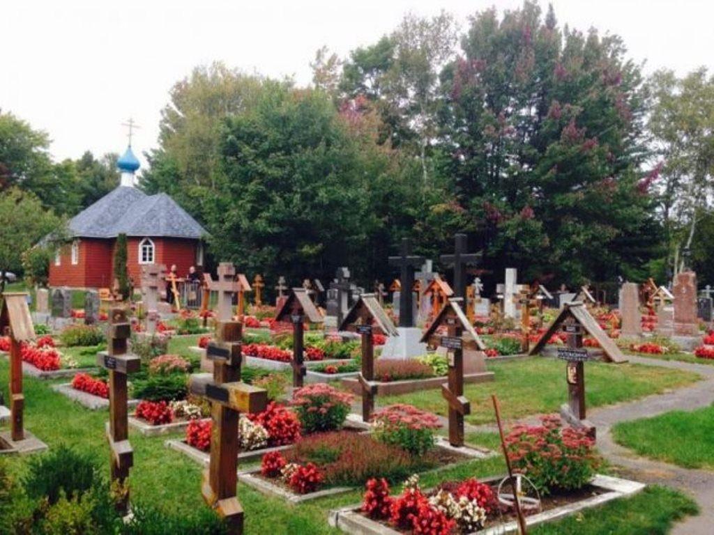Православное кладбище в Раудоне (Квебек, Канада)