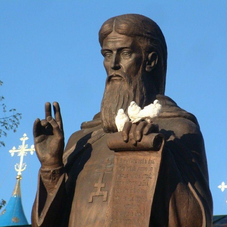 Памятник преподобному Сергию Радонежскому в Сергиевом-Посаде