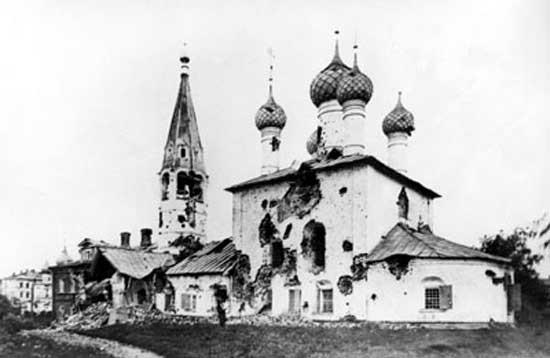 Ярославское восстание, расстрелянный город
