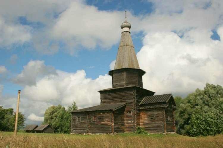 Церковь Успения Богородицы из деревни Курицко в Витославлицах в Великом Новгороде