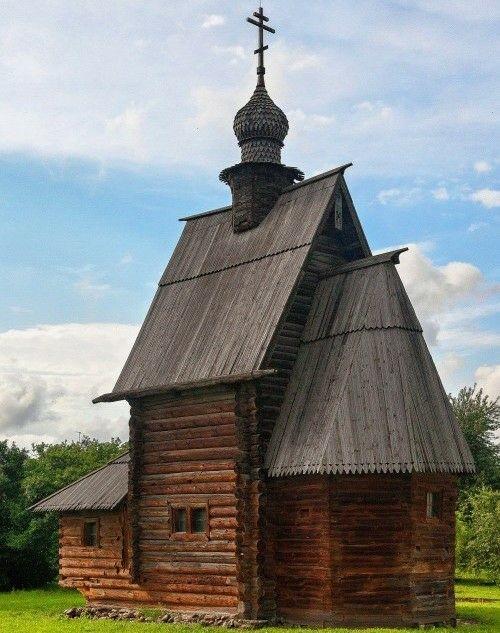 Георгиевская церковь из села Егорье Михайло-Архангельского монастыря в Юрьеве-Польском