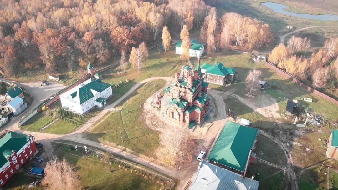 Фото Абабковского монастыря с высоты птичьего полета