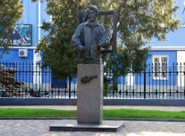 Памятник И.Е. Репину в Краснодаре
