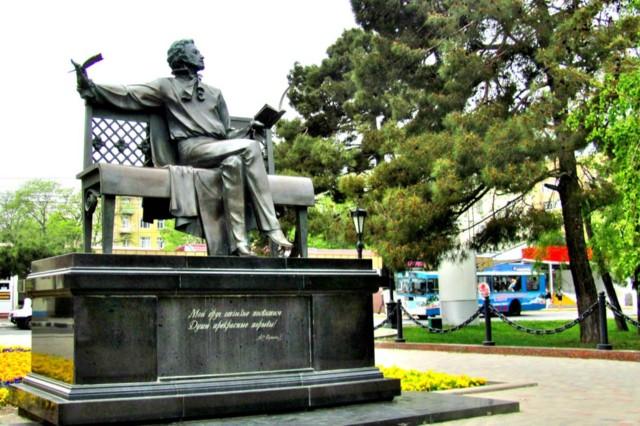 Памятник А.С. Пушкину в Новороссийске