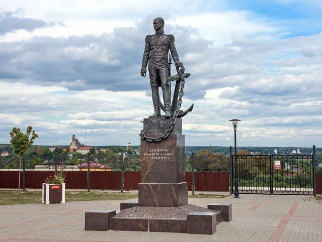 Памятник адмиралу Д.Н. Сенявину в Боровске