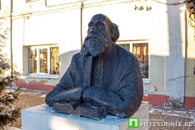 Памятник Н.Ф. Федорову в Боровске