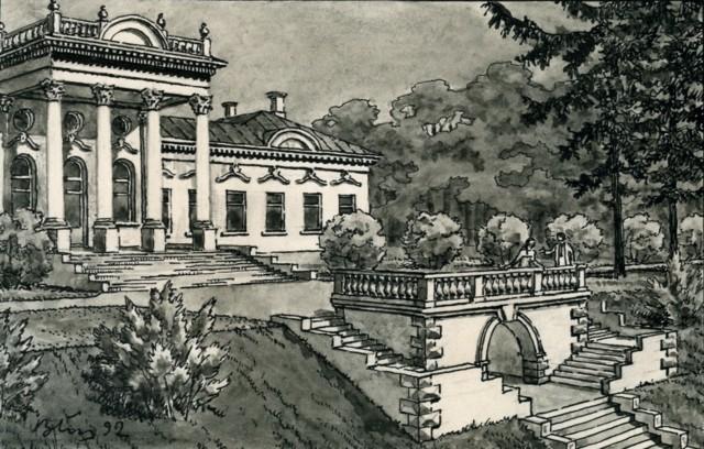 Усадьба Тенишевых в Хотылёво (в руинах)