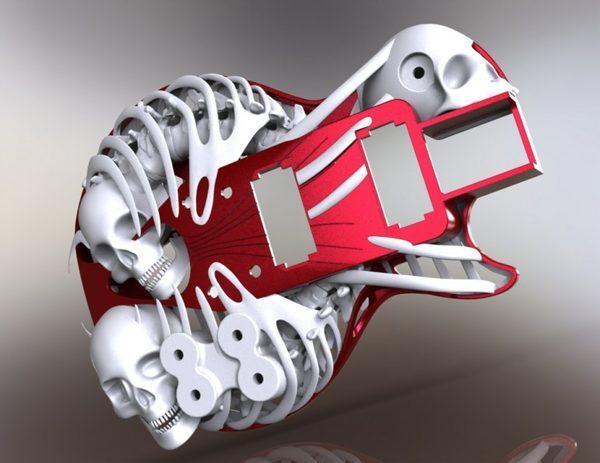 3D напечатанная модель Necromuse