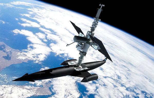 Skylon космический самолет на орбите Земли