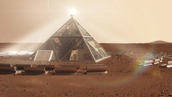 Концепт-дизайн дома на Марсе