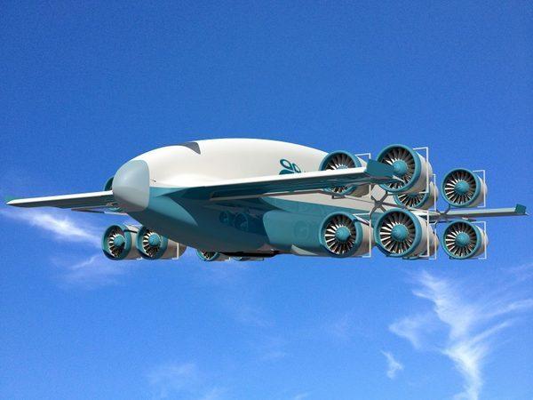 Возможность взлететь вертикально, VV-Plane наклоняет свои двигатели для горизонтального полета