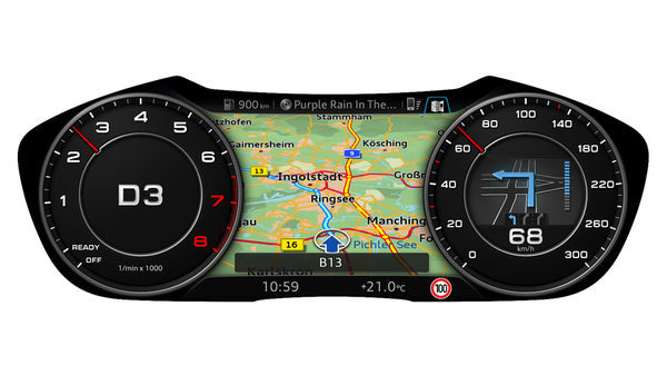 The display modes of Audi virtual cockpit