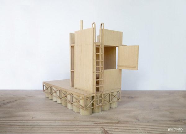 """3D модель сауны, созданная специально для проекта """"wa_sauna"""""""