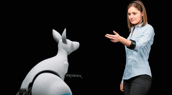 Робот Кенгуру контролируемый жестами