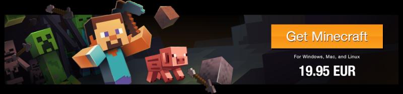 Цена за одну копию игры Minecraft на официальном сайте игры