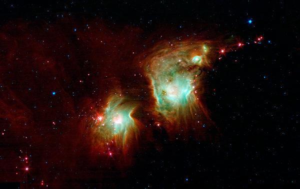 Звездообразования и формирующейся туманности Мессье 78