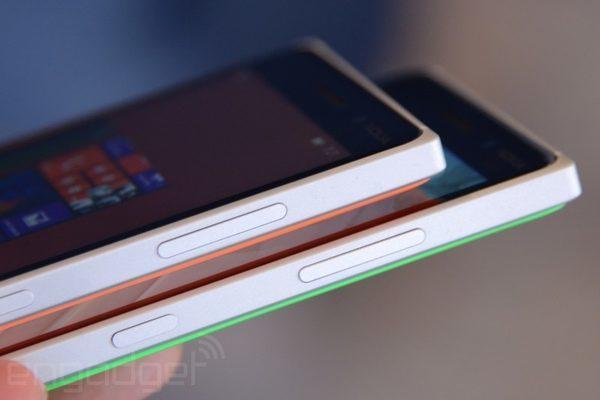 Боковые клавиши на торце у lumia 830 с толщиной корпуса в 8,5 мм