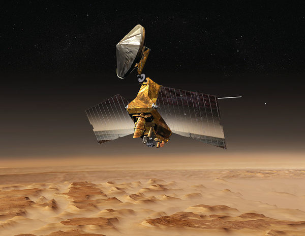 Mars Reconnaissance Orbiter (MRO) многоцелевым корабль предназначен для ведения разведки и исследования Марса с орбиты