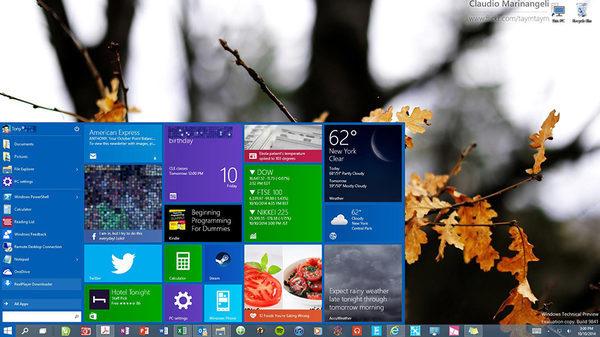 Windows 10, меню Пуск от cybersaurusrex
