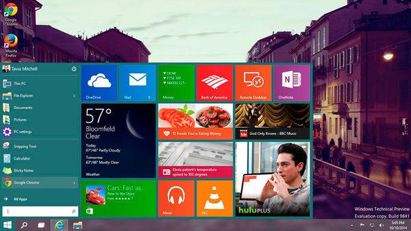 Windows 10, меню Пуск от MetroEye