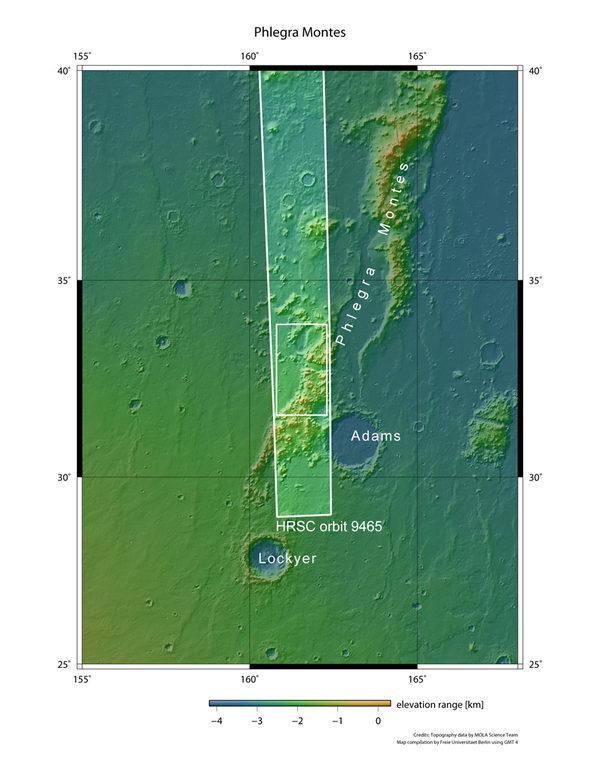 Лед на Марсе Флегра Монтес (Phlegra Montes)