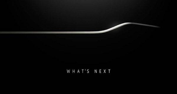 Samsung выпустила этот тизер вчера , предполагая изогнутый край.
