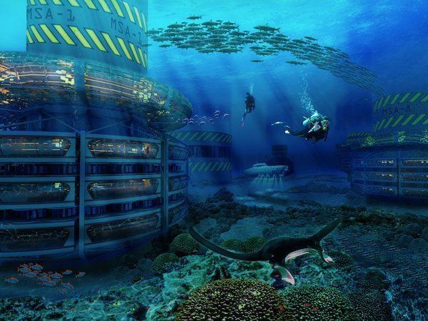 подводный город фото