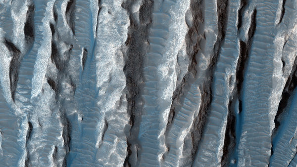 Горы и вода на Марсе
