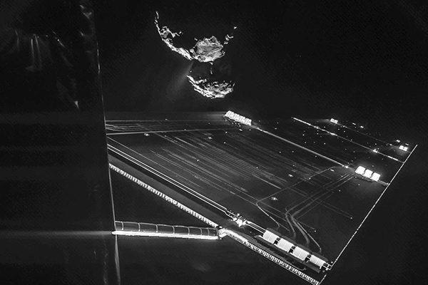 Philae селфи с Кометой