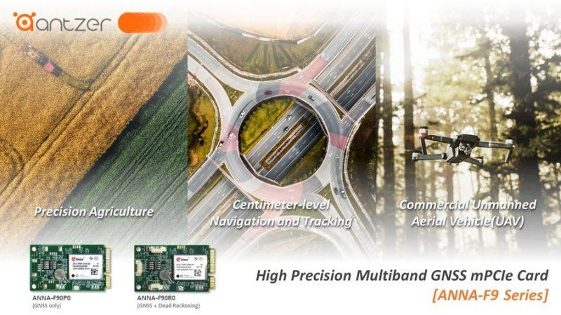 Высокоточные карты расширения ГНСС Antzertech расширяют диапазон их применения