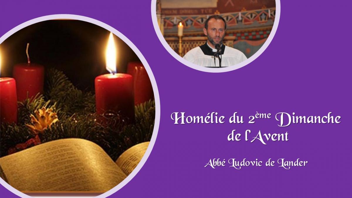 Homélie du 2ème dimanche de l'Avent par l'abbé Ludovic