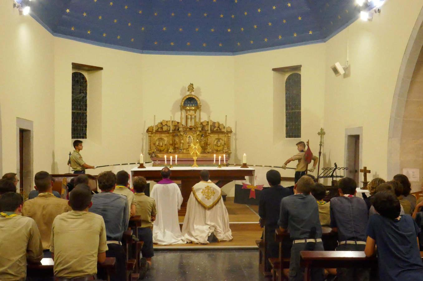 Veillée spi dans l'église d'Angous