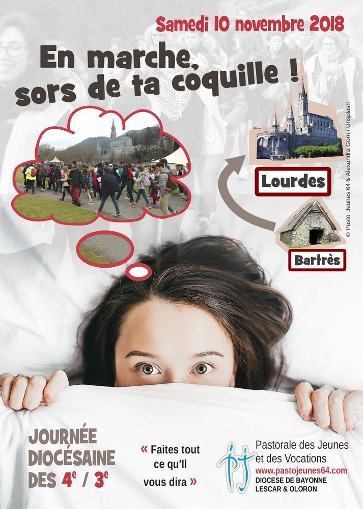 « En marche, sors de ta coquille ! » : journée des collégiens à Lourdes et à Bartrès