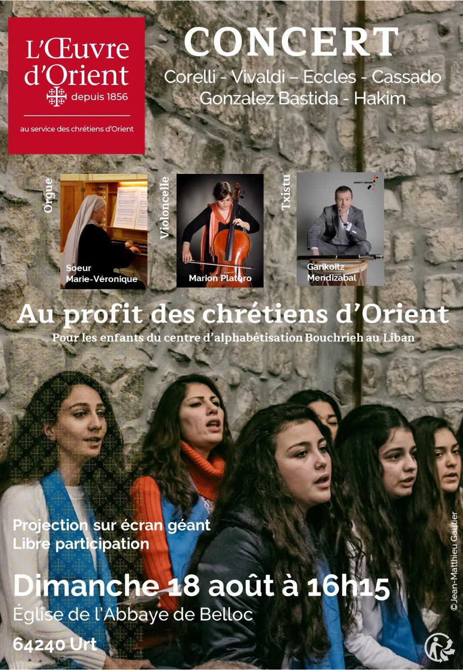 Concert Abbaye de Belloc - Dimanche 18 août 2019 à 16h15