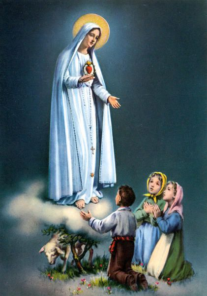 Marie et les petits bergers de Fatima