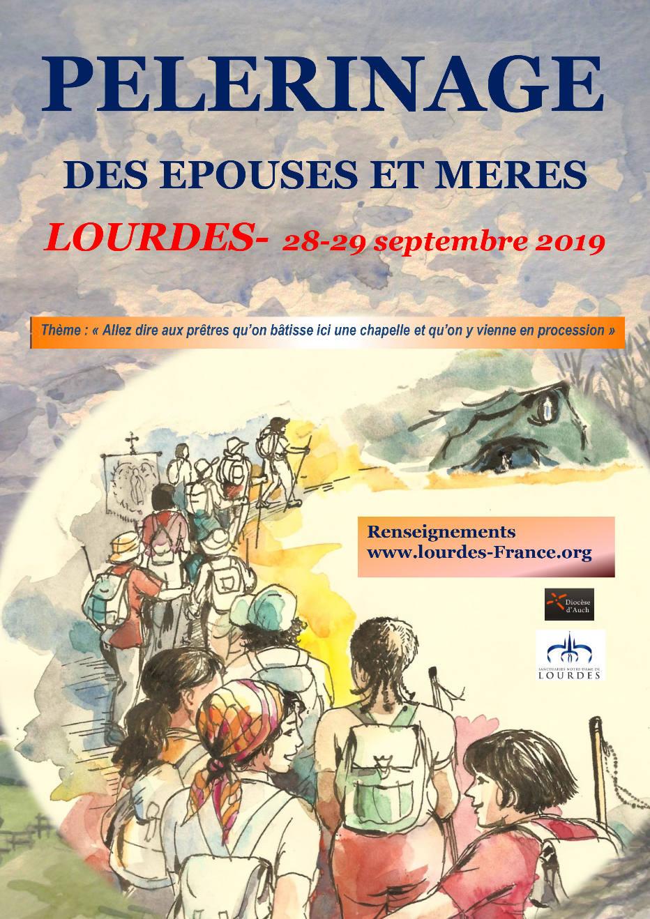 Pèlerinage des épouses et mères, 28 / 29 septembre 2019