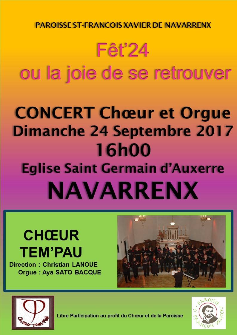 Concert Choeur et Orgue de Tem'Pau