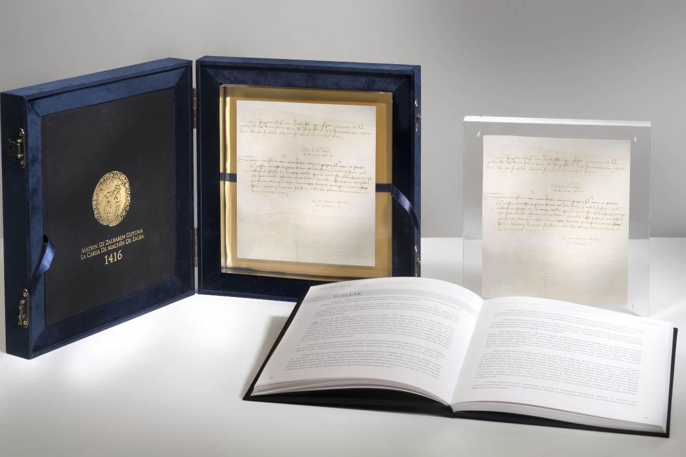 Une lettre en basque datée de 1416 parmi les publications de l'éditeur Mintzoa