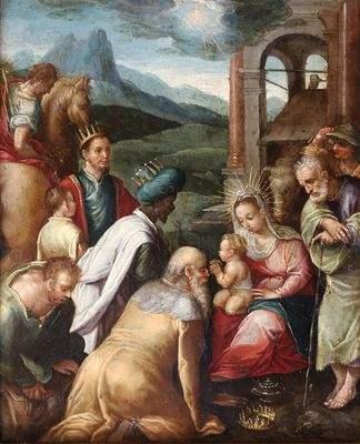 « l'Adoration des Mages ». Ecole flamande du XVIIème