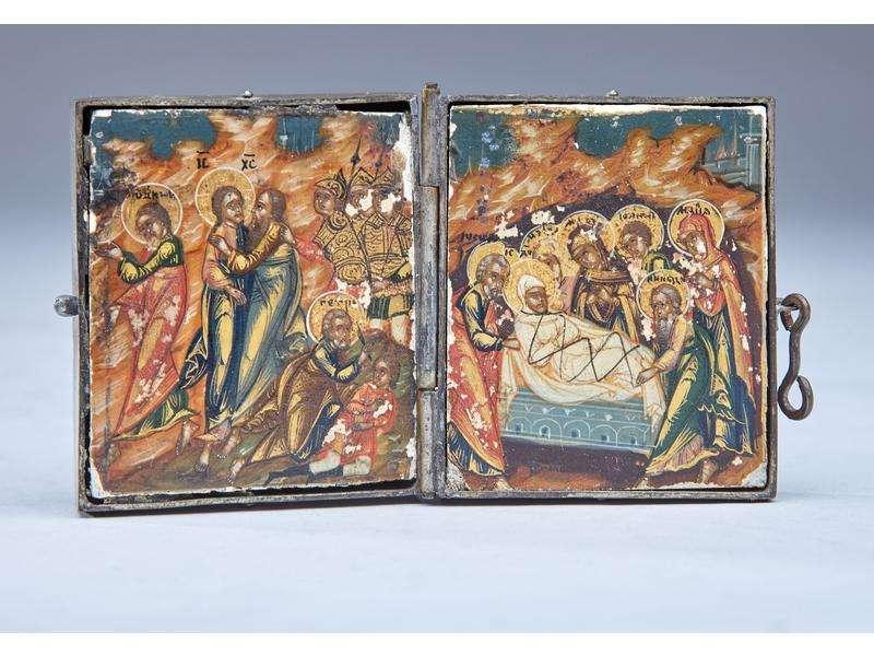 Le Baiser de Juda et Saint-Pierre coupant l'oreille et La Mise au tombeau du Christ