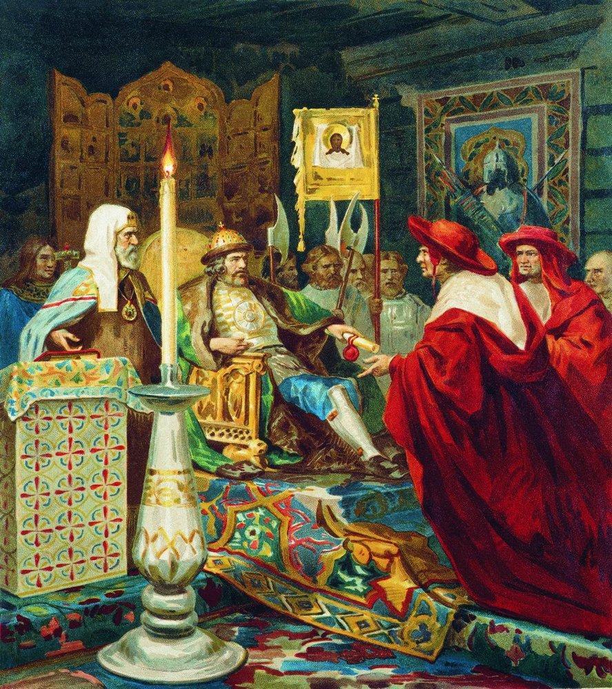 zAlexandre Nevsky recevant les légats du pape par Siemiradzki.jpg