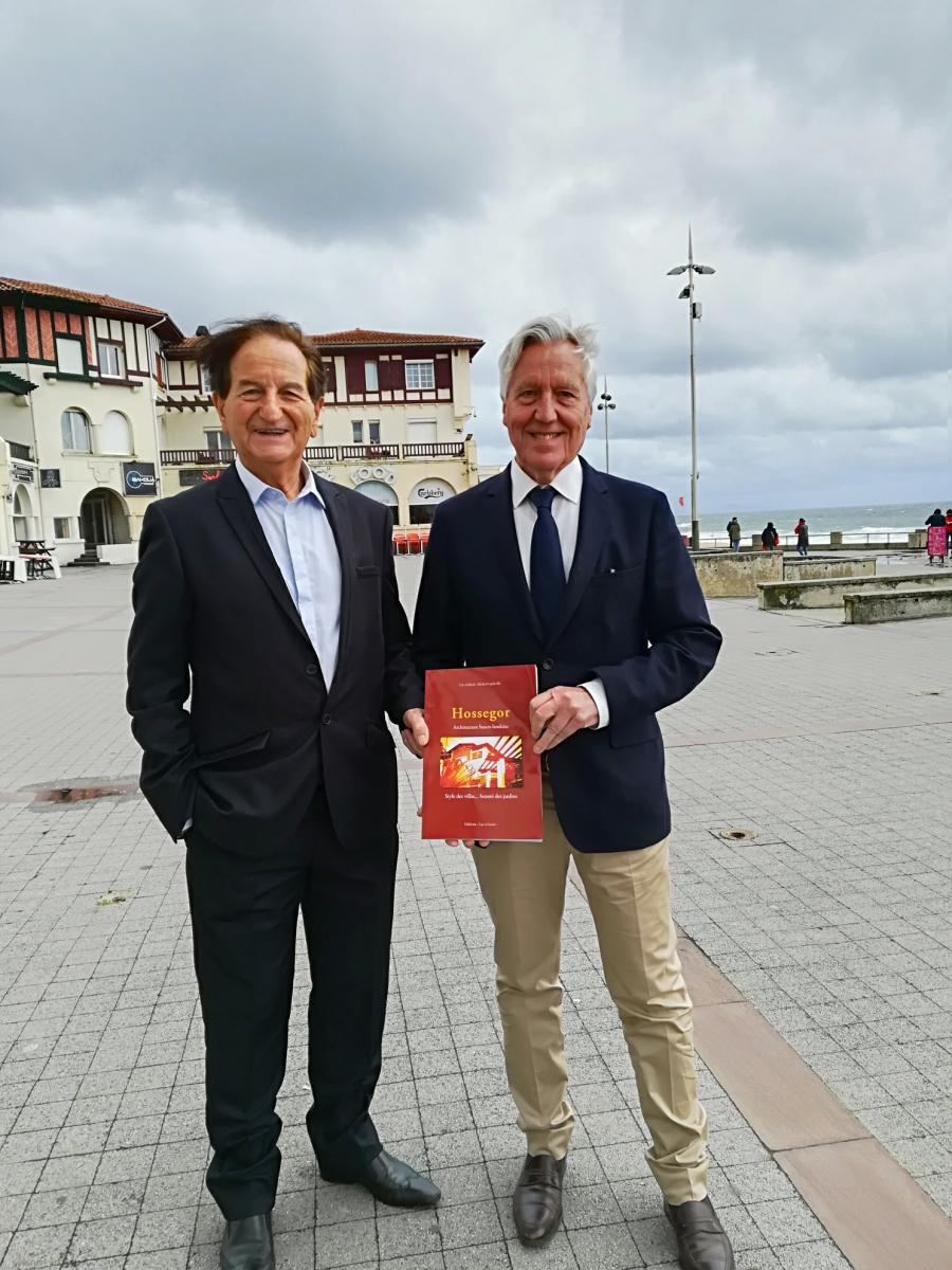 Eric Gildard et Michel Capdeville présentent leur nouvel ouvrage Hossegor - Architecture basco-landaise.jpg