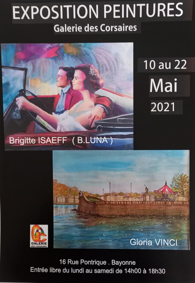 Bayonne : les portraits de Brigitte Isaeff croisent les paysages de Gloria Vinci à la galerie des Corsaires